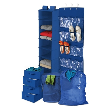 Blue Back to School/Home Organization Kit by Honey-Can-Do