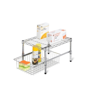 Adjustable Shelf w/ Under Cabinet Organizer by Honey-Can-Do