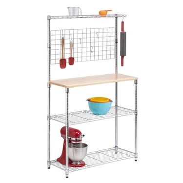 Chrome 2 Shelf Urban Baker's Rack by Honey-Can-Do