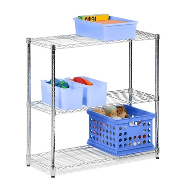 3-Tier Chrome Storage Shelves by Honey-Can-Do