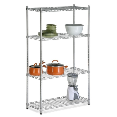 4-Tier Chrome Shelving Unit by Honey-Can-Do