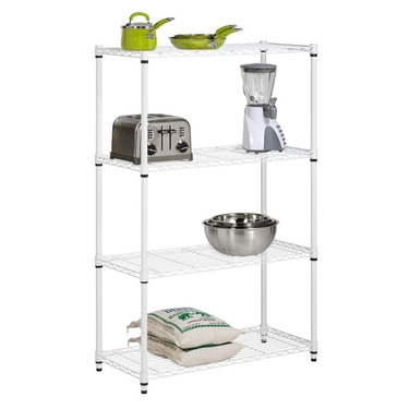 4-Tier White Shelving Unit by Honey-Can-Do