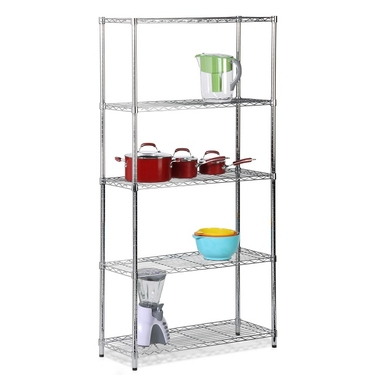 5 Tier Chrome Storage Shelves by Honey-Can-Do