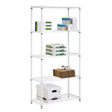 5 Tier White Storage Shelves by Honey-Can-Do