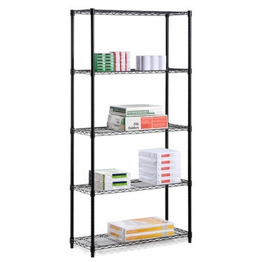 5 Tier Black Storage Shelves by Honey-Can-Do