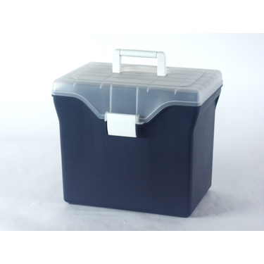 Portable File Box in Navy Blue by Iris