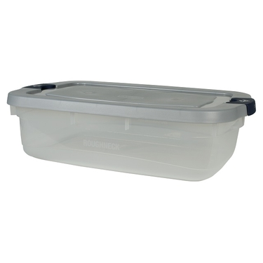 Clear/Steel 31 qt Roughneck Tote by Rubbermaid