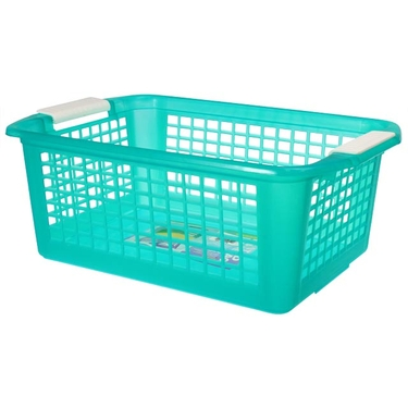Large Teal Flip-N-Stack Baskets by Dial