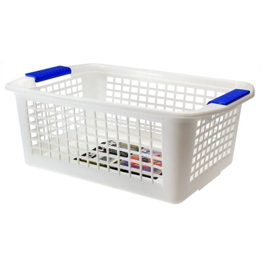 Large White Flip-N-Stack Baskets by Dial