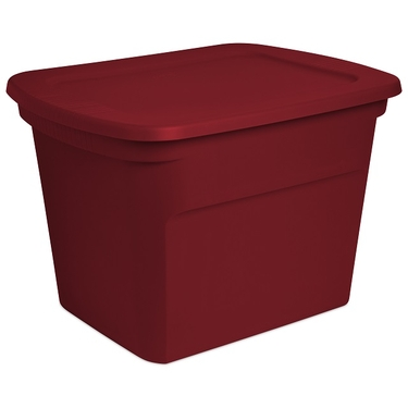 Sterilite 18 Gallon Holiday Christmas Red Storage Tote