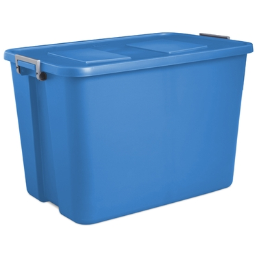 32 Gallon Sail Blue Tote by Sterilite