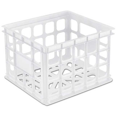 Stackable Storage Crate by Sterilite, White