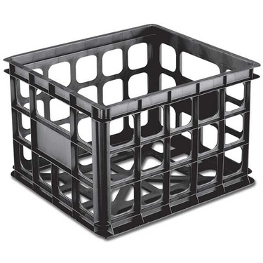 Stackable Storage Crate by Sterilite, Black