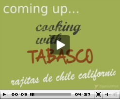 Spanish Lesson - Rajitas de chile california
