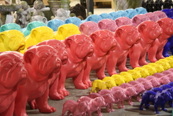 Thomas Pink Large Bulldogs For Display