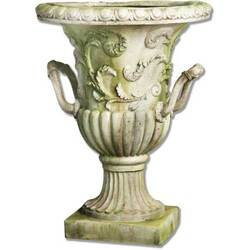 Handle Entryway Urn - White Moss - FS34067