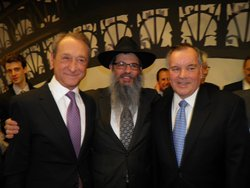 Mayor of Chicago, The Honorable Richard M Daley, Director of the Chabad Center for Jewish Life in Downtown Chicago ,Rabbi Meir Chai Benhiyoun, Mayor of Paris, The Honorable Bertrand Delanoe