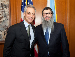 Mayor Emanuel, Rabbi Benhiyoun