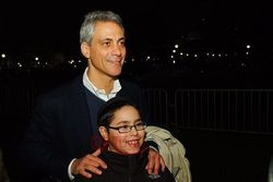 Levi Benhiyoun with Mayor Emanuel in D.C.