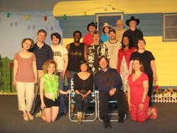 Valley Repertory cast with authors, talk back
