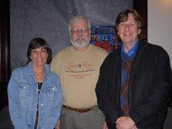 Authors with director, Brendan Albetski