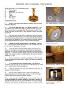 Cherub Mio Fountain Instructions