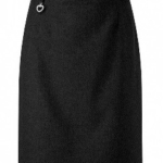 Girls can wear a black skirt that is within one inch of her knees.