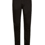 Both girls and boys can wear black or khaki, cotton twill pant.
