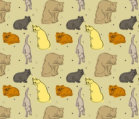 Vortex the cat fabric by fehrtrade on Spoonflower - custom fabric