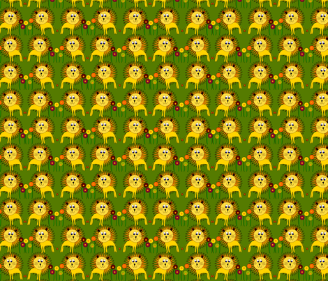 Lion Design fabric by rachel_galloway on Spoonflower - custom fabric