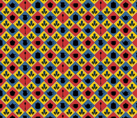 Folksy Tea Party fabric by jmaranez on Spoonflower - custom fabric