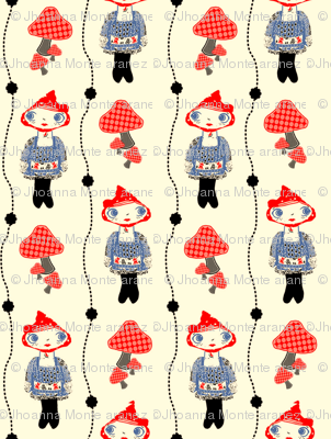 Woodland Girl (Red and Blue)