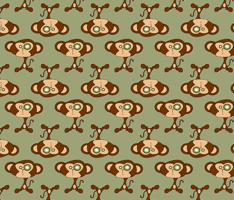 Funky Monkey fabric by leora_the_sane on Spoonflower - custom fabric