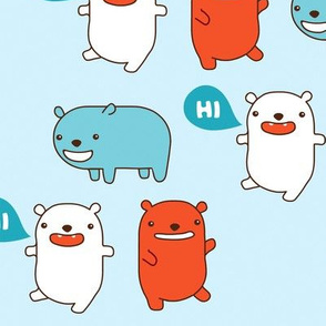 Happy Bears Say Hi