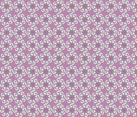 circular_drawn_flower_mauve fabric by veronicairons on Spoonflower - custom fabric
