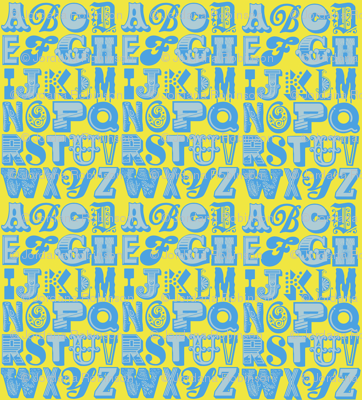 alphabet (blue/yellow)