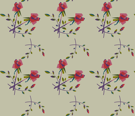 blockyroses fabric by purelydecorative on Spoonflower - custom fabric