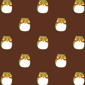 Brown Hooty Owl Fabric