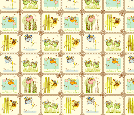 Vignettes fabric by outofthebox on Spoonflower - custom fabric