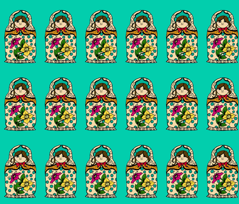 Russian_Doll_for_fabric_big fabric by weezey on Spoonflower - custom fabric