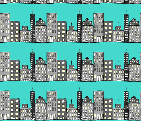 skyline_resized_2 fabric by weezey on Spoonflower - custom fabric