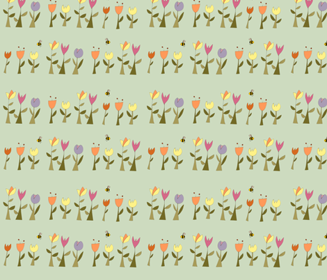 summer_flowers_lab_colour fabric by phatsheepfabrics on Spoonflower - custom fabric