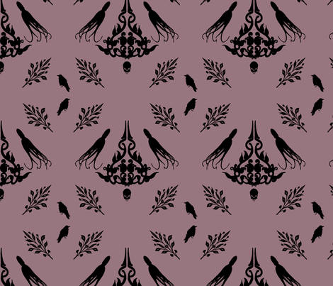 octopus-raven-skull fabric by jessicaroberts on Spoonflower - custom fabric