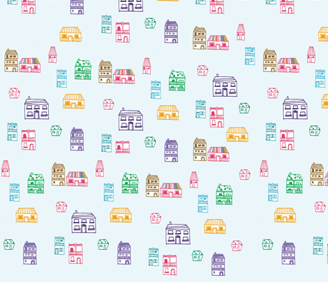 house fabric by tamptation on Spoonflower - custom fabric