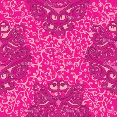 SCK Damask Pink Swirls