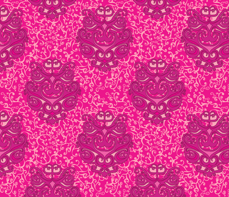 SCK Damask Pink Swirls fabric by stacyck on Spoonflower - custom fabric