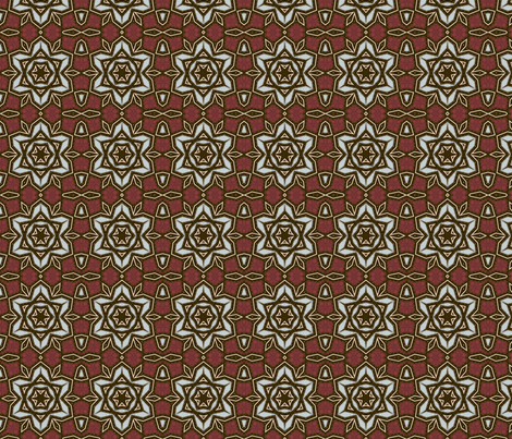bluebrownflowerstarsquare10x10x150a fabric by dreamwhisper on Spoonflower - custom fabric