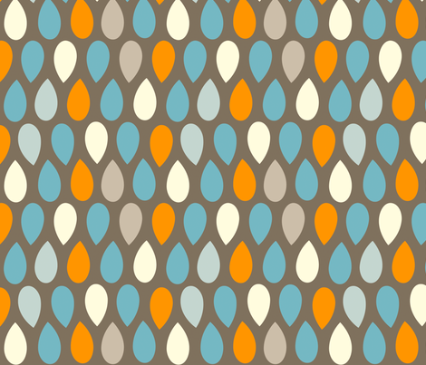 Raindrop Repeat fabric by katybeck on Spoonflower - custom fabric