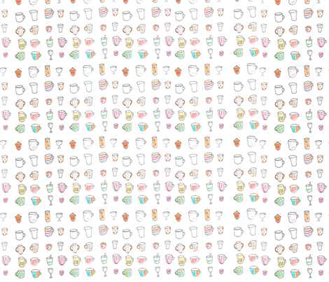 cup2 fabric by tamptation on Spoonflower - custom fabric