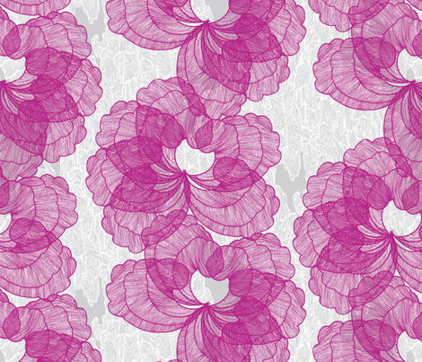 Fleur fabric by daynagedney on Spoonflower - custom fabric